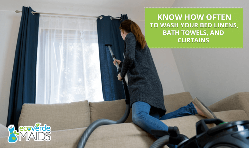 Know How Often to Wash Your Bed Linens, Bath Towels, and Curtains