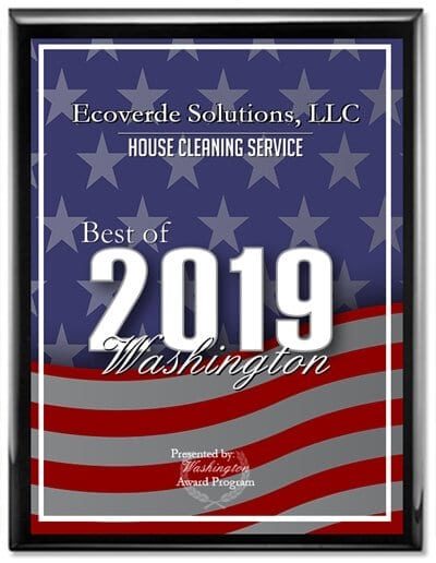 Ecoverde Solutions Receives 2019 Best of Washington Award in House Cleaning Service