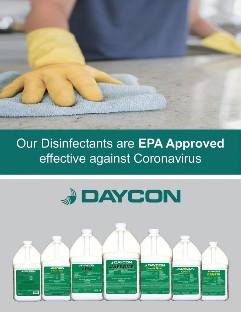 Sanitizing and Disinfecting Services, We use Daycon products a local manufacter in MD