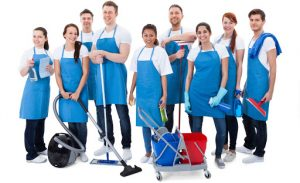 Cleaning and decluttering staff