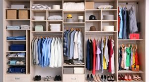 closet decluttering and shelf cleaning